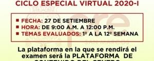 SEGUNDO EXAMEN CICLO ESPECIAL 2020-I