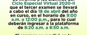 TERCER EXAMEN CICLO ESPECIAL 2020-II