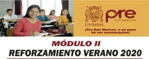 MATRICULA CICLO REFORZAMIENTO VERANO 2020 MÓDULO II