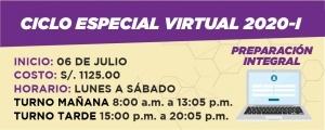 CICLO ESPECIAL VIRTUAL 2020-I