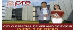 MATRICULA CICLO ESPECIAL VERANO 2017-2018