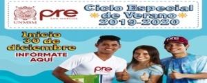 MATRICULA CICLO ESPECIAL DE VERANO 2019-2020