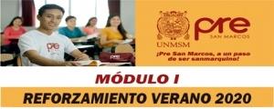 MATRICULA CICLO REFORZAMIENTO VERANO 2020 MÓDULO I