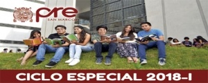 MATRICULA CICLO ESPECIAL 2018-I